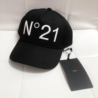 N°21 - 新品💎N°21 N21 ヌメロヴェントゥーノ ロゴ キャップ 刺繍 黒 帽子