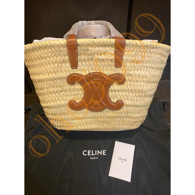 celine(セリーヌ)のCELINE カゴバッグティーン トリオンフ パニエ ラフィア & カーフスキン レディースのバッグ(ハンドバッグ)の商品写真