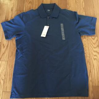 UNIQLO - UNIQLO 新品半袖ポロシャツ ネイビーL