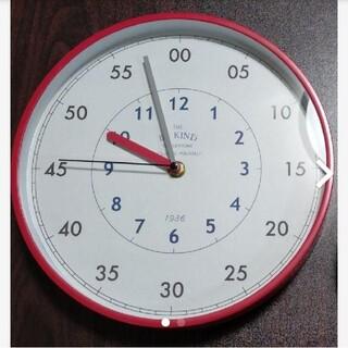 赤い掛時計《スタディクロック・時計の読み方》&タオルハンカチセット(掛時計/柱時計)