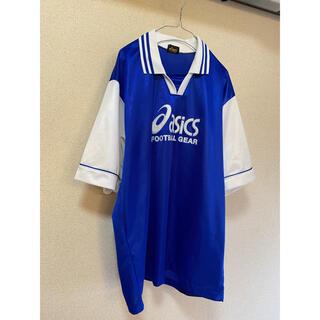 asics - 古着 asics ゲームシャツ サッカーシャツ