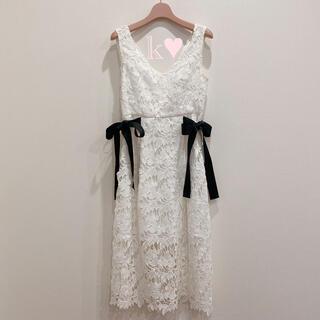 eimy istoire - waist ribbon lace dress