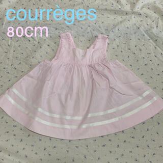 クレージュ(Courreges)の美品 クレージュ 80㎝ ベビー服 ボリュームスカート ワンピース(ワンピース)