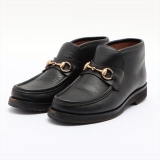 グッチ(Gucci)のグッチ ホースビット レザー  ブラック メンズ ブーツ(ブーツ)