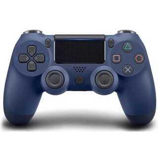 PS4 ワイヤレスコントローラー ミッドナイトブルー 濃い青色