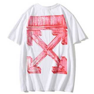 白赤 メンズ レディース Tシャツ オーバーサイズ ペアルック オフホワイト(Tシャツ/カットソー(半袖/袖なし))