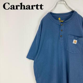 carhartt - カーハート☆ビッグサイズ ハーフボタン ヘンリーネック 半袖 Tシャツ