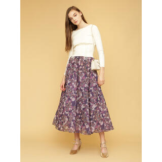 Lily Brown - ステンドガラス柄ロングスカート