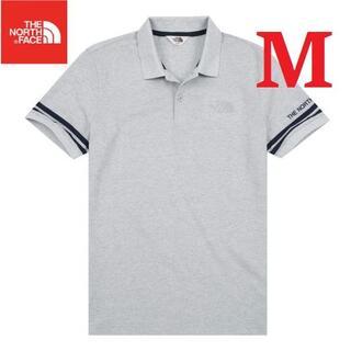 ザノースフェイス(THE NORTH FACE)のノースフェイス ホワイトラベルポロシャツ メンズ 夏 グレー/M K127B(ポロシャツ)