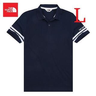 ザノースフェイス(THE NORTH FACE)のノースフェイス ホワイトラベルポロシャツ メンズ 夏 ネイビー/L K126C(ポロシャツ)