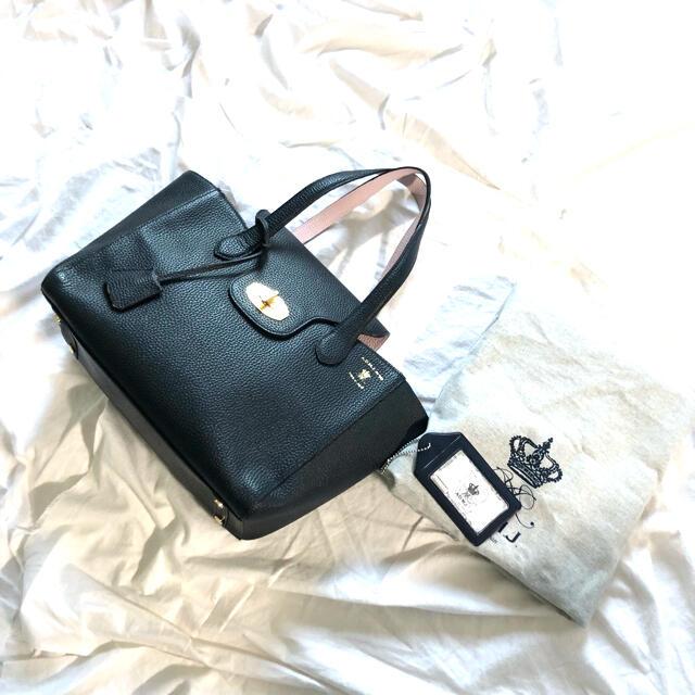 A.D.M.J.(エーディーエムジェイ)の新品 A.D.M.J エーディーエムジェイ トートハンドバッグ シュリンクレザー レディースのバッグ(トートバッグ)の商品写真