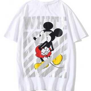 新ミッキーメンズ レディースTシャツ オーバーサイズ 白ペアルック オフホワイト(Tシャツ/カットソー(半袖/袖なし))