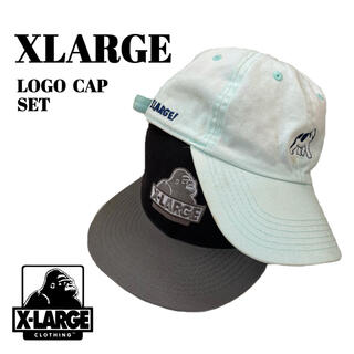 XLARGE - XLARGE / エクストララージ ロゴ キャップ ジャンク品 セット販売