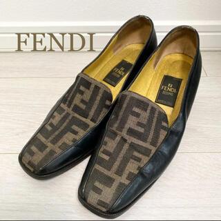 FENDI - FENDI フェンディ 24.0 イタリア製 ズッカ柄 パンプス ロゴ 革靴
