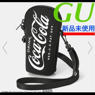 【新品 GU】コカコーラ ボトルネックポーチCoca-Cola ブラック