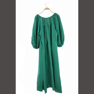 Plage - プラージュ 20SS スクエアバックドレス ワンピース ロング 七分袖 38 緑