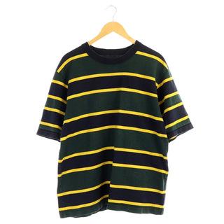 sacai - サカイ ボーダーTシャツ カットソー 半袖 3 緑 紺 黄 グリーン ネイビー