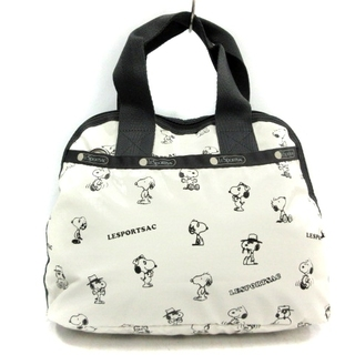 LeSportsac - レスポートサック ピーナッツコラボスヌーピーバッグ ハンドバッグ 白 黒