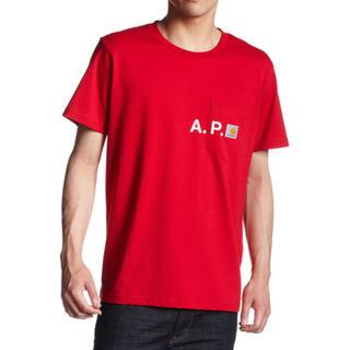 A.P.C - A.P.C./ Carhartt 新品未使用ポケットTシャツ レカアラーSサイズ