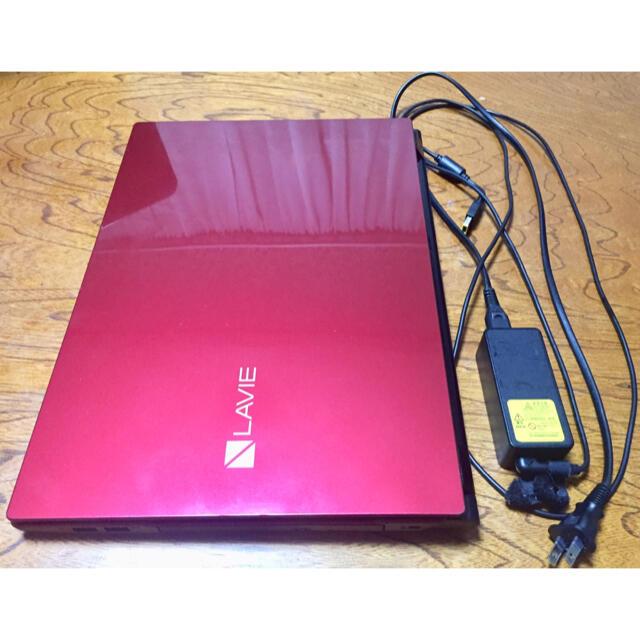 NEC(エヌイーシー)のノートパソコン NEC LAVIE NS700FAR (クリスタルレッド) スマホ/家電/カメラのPC/タブレット(ノートPC)の商品写真