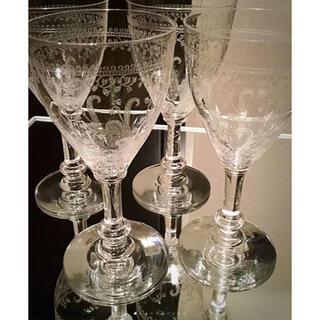 Baccarat - 1900年 オールドサンルイ 【LIBERTY】12.3㎝ ワイングラス 4脚