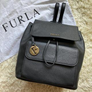 Furla - 【極美品】FURLA フルラ リュック レザー  ノエミ Fチャーム ブラック
