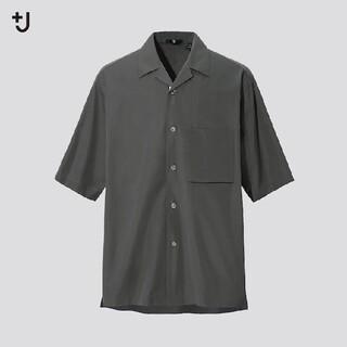 UNIQLO - +J スーピマコットンオーバーサイズオープンカラーシャツ L オリーブ