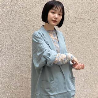 カスタネ(Kastane)のkastane☆人気予約商品シアー花柄キャミ付きインナー(Tシャツ(長袖/七分))