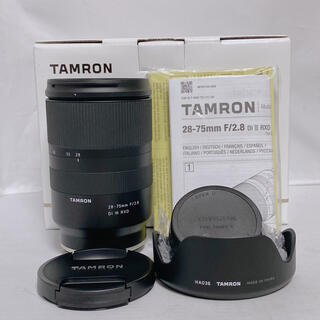 TAMRON - 【美品】TAMRON 28-75mm F2.8 DiⅢ RXD ソニーEマウント