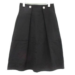 マリメッコ(marimekko)のマリメッコ marimekko フレアスカート ひざ丈 34 S 黒(ひざ丈スカート)