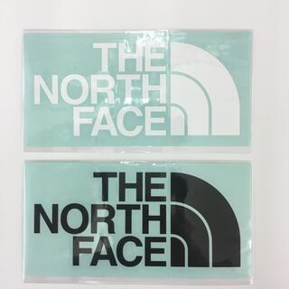 THE NORTH FACE - ノースフェイス ステッカー カッティング 2枚 ブラック ホワイト 国内正規品