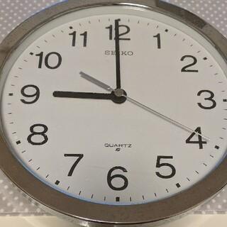 セイコー(SEIKO)の【ジャンク】SEIKO 壁掛け時計 QUARTZ シルバー(掛時計/柱時計)