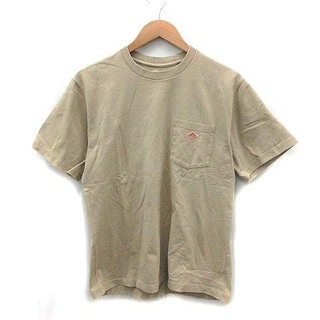 ダントン(DANTON)のダントン ポケット Tシャツ Uネック コットン 半袖 40 M ベージュ(Tシャツ/カットソー(半袖/袖なし))