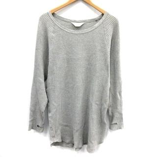 アンユーズド(UNUSED)のアンユーズド Tシャツ カットソー ロンT 長袖 0 XS グレー(Tシャツ/カットソー(七分/長袖))