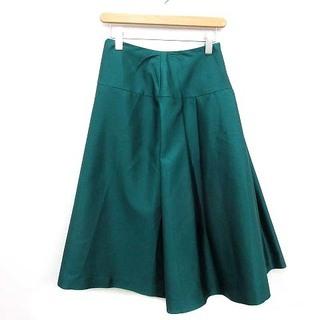ADORE - アドーア ADORE スカート フレア 膝丈 ウール 38 M 緑 グリーン