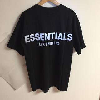 サイズM黒反射光りfogessentials Tシャツ