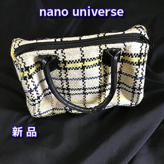 ナノユニバース(nano・universe)のnano universe ハンドバッグ チェック柄ボストンタイプ トートバッグ(ハンドバッグ)