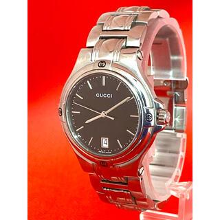 グッチ(Gucci)の極美品! GUCCI 9040M メンズ腕時計 デイト付き(腕時計(アナログ))