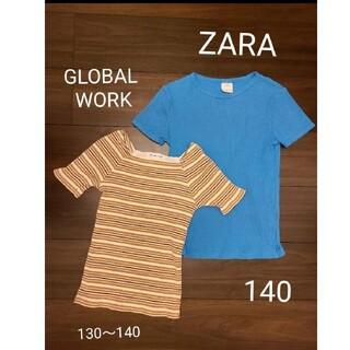 ZARA - GLOBAL WORK グローバルワーク ZARA ザラ 半袖 Tシャツ ニット