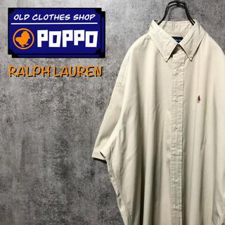 Ralph Lauren - ラルフローレン☆ワンポイント刺繍カラーポニー半袖チノボタンダウンシャツ 90s