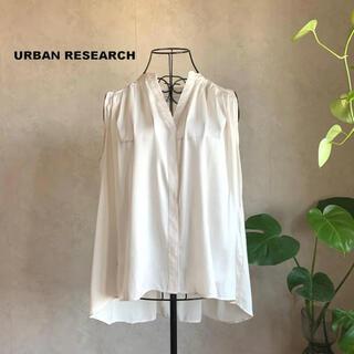 URBAN RESEARCH - 【美品】アーバンリサーチ サテンノースリーブギャザーブラウス