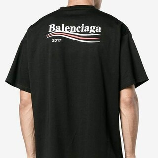 Balenciaga - BALENCIAGA バレンシアガ 17AWキャンペーンロゴプリントTシャツ S