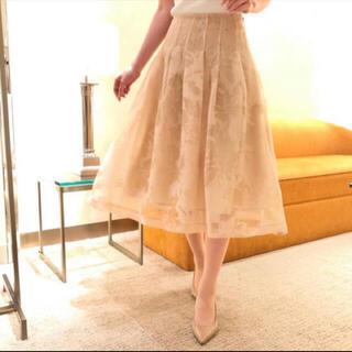 エムプルミエ(M-premier)のエムプルミエブラック オーガンジースカート size36(ひざ丈スカート)