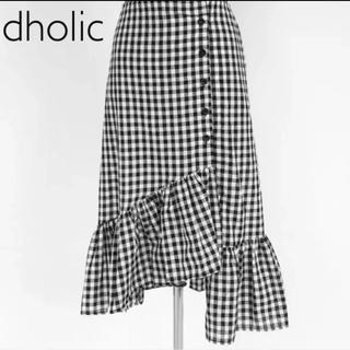 ディーホリック(dholic)の早い物勝ち!【新品】dholic チェック柄スカート  (ひざ丈スカート)