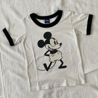 Disney - Disney ディズニー ミッキー リンガーTシャツ 120