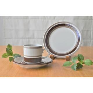 アラビア(ARABIA)のARABIA アラビア●ピルティ●コーヒーカップ&ソーサー&プレートセット(食器)