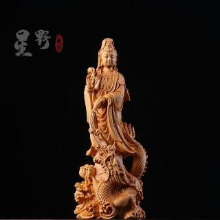 御竜観音  彫刻 木製仏像 仏陀彫刻  極上品 精密細工  仏師で仕上げ品(彫刻/オブジェ)
