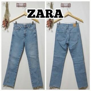 ZARA - ZARA ザラ/ハイウエストストレートデニム