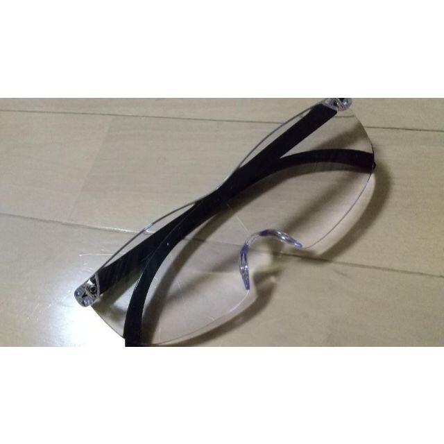 メガネ型ルーペ ブルーライトカット 男女兼用 眼鏡型ルーペ 拡大鏡 1.6倍 メンズのファッション小物(サングラス/メガネ)の商品写真