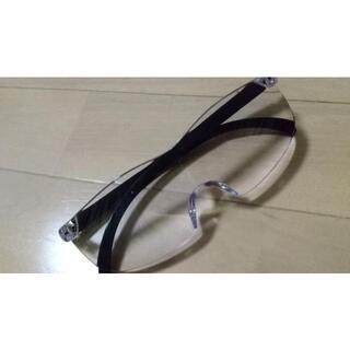 メガネ型ルーペ ブルーライトカット 男女兼用 眼鏡型ルーペ 拡大鏡 1.6倍